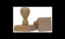Holzstempel - Viereck 70x70 mm
