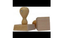 Holzstempel - Viereck 80x80 mm