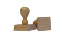 Holzstempel - Viereck 90x90 mm
