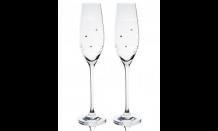 Hochzeitsbecher Madrid mit Swarowski Kristallen - 2 x 210 ml